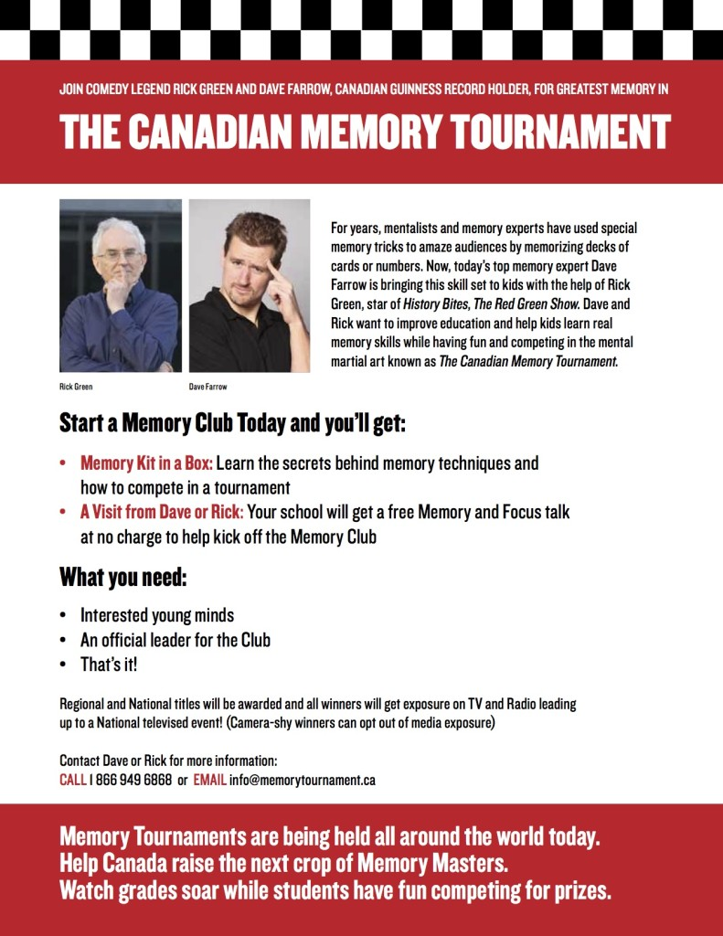 The Canadian Memory Tournament